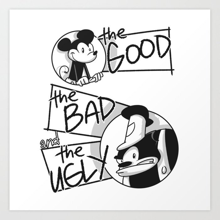 The Good, The Bad and The Ugly Art Print by lifehiker.