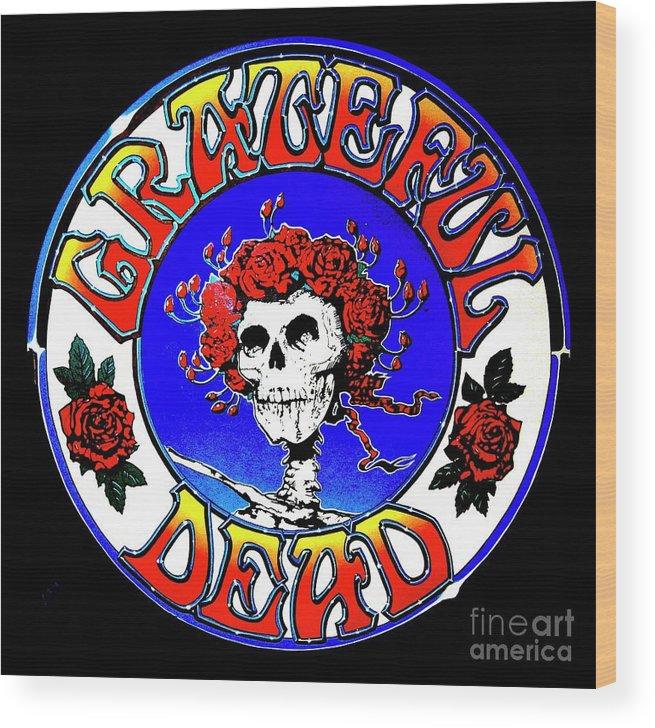 Grateful Dead Logo Wood Print.