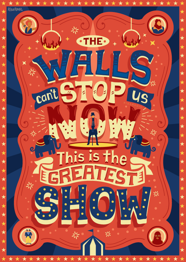 The Greatest Showman Lyric Posters on Behance.