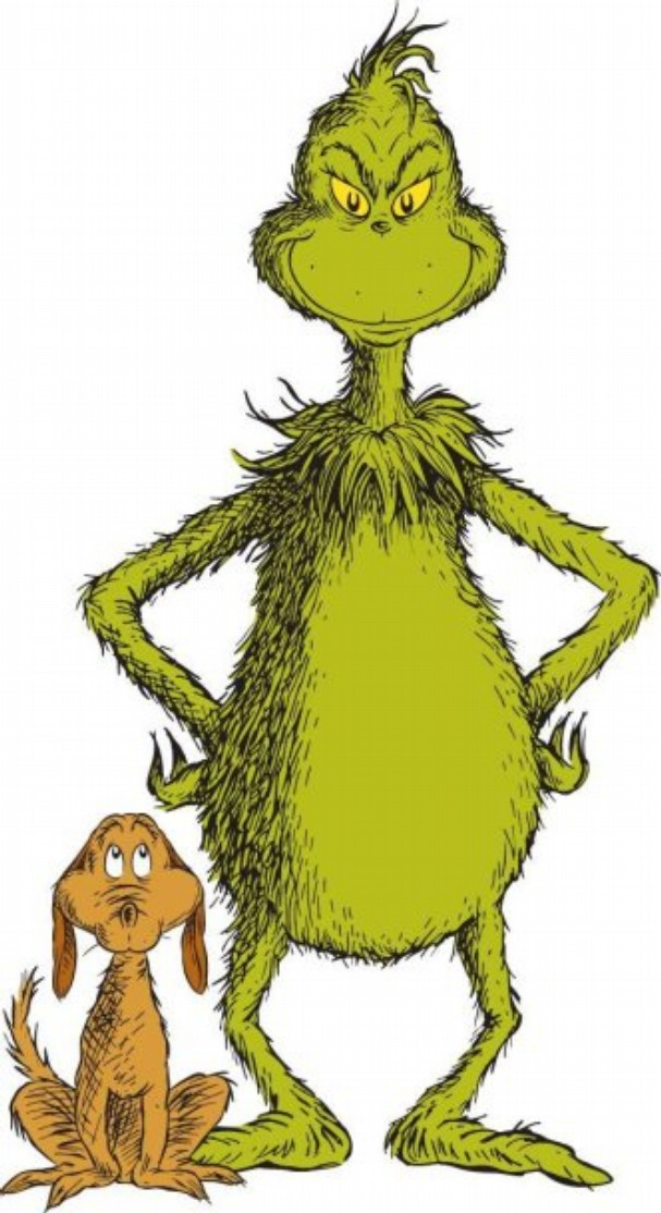 the grinch full body clipart #7