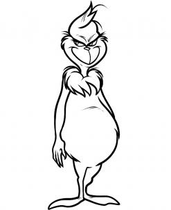 the grinch full body clipart #6