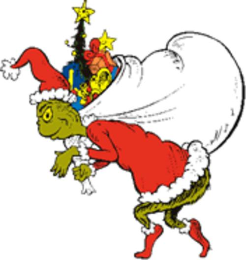 Grinch Ornament Full Body Clipart.