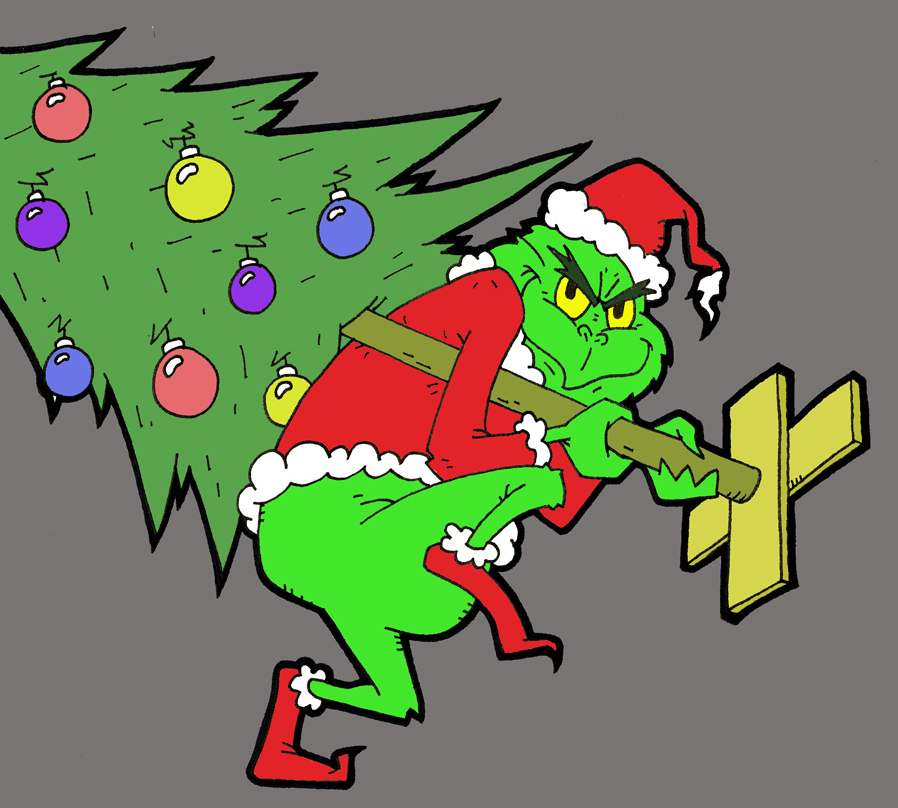 the grinch full body clipart #2