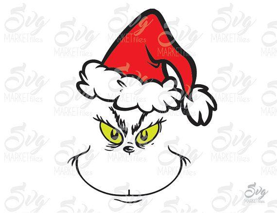 Grinch Santa Hat Clipart.