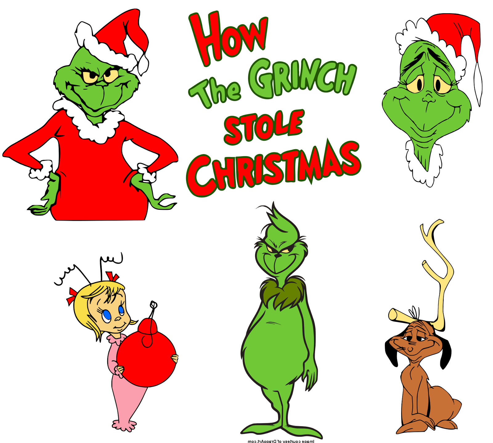 Image result for Grinch Christmas Clipart.
