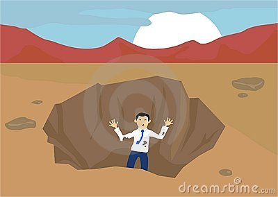 Pit in the ground clipart.