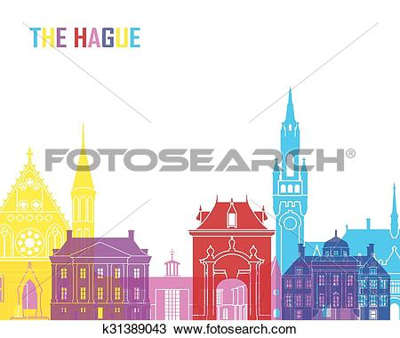 Clipart of The Hague skyline pop k31389043.