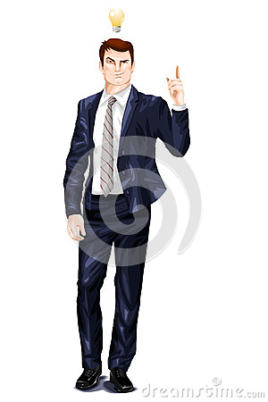 Handsome man clipart head.