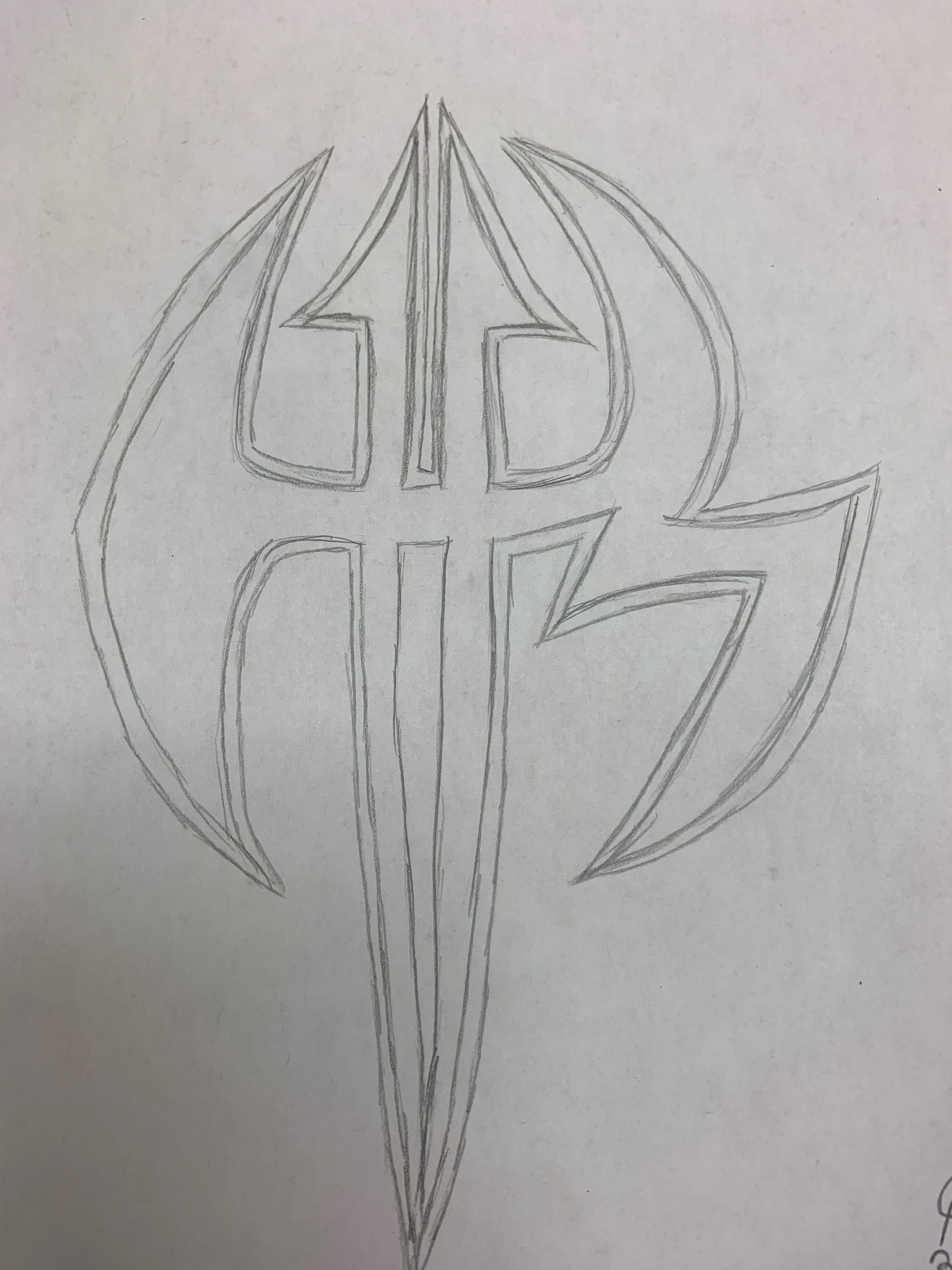 My Drawing of The Hardy Boyz Logo in 2019.