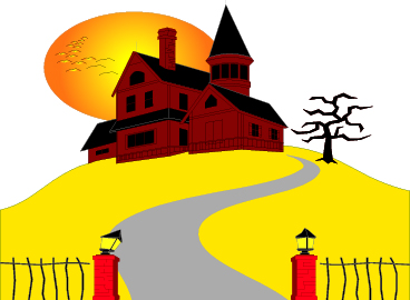 Clipart mansion haunted house.