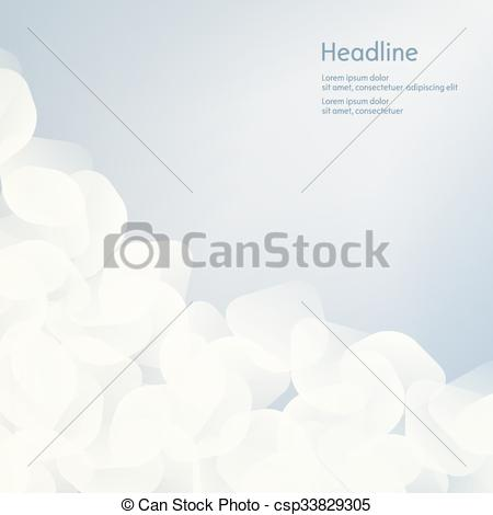 Vector Clipart of Background of white petals. The effect of haze.