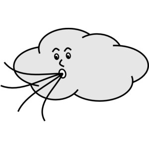Wind blowing clipart.
