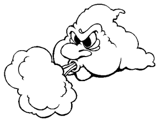 Cloud blowing wind clipart.