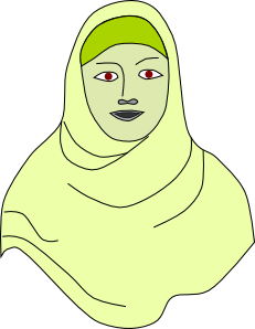 Islamic Hijab Vail Headscarf Clip Art at Clker.com.