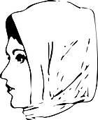 Headscarf Clip Art.