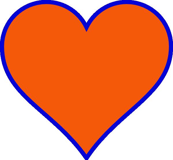Orange & Blue Heart Clip Art at Clker.com.