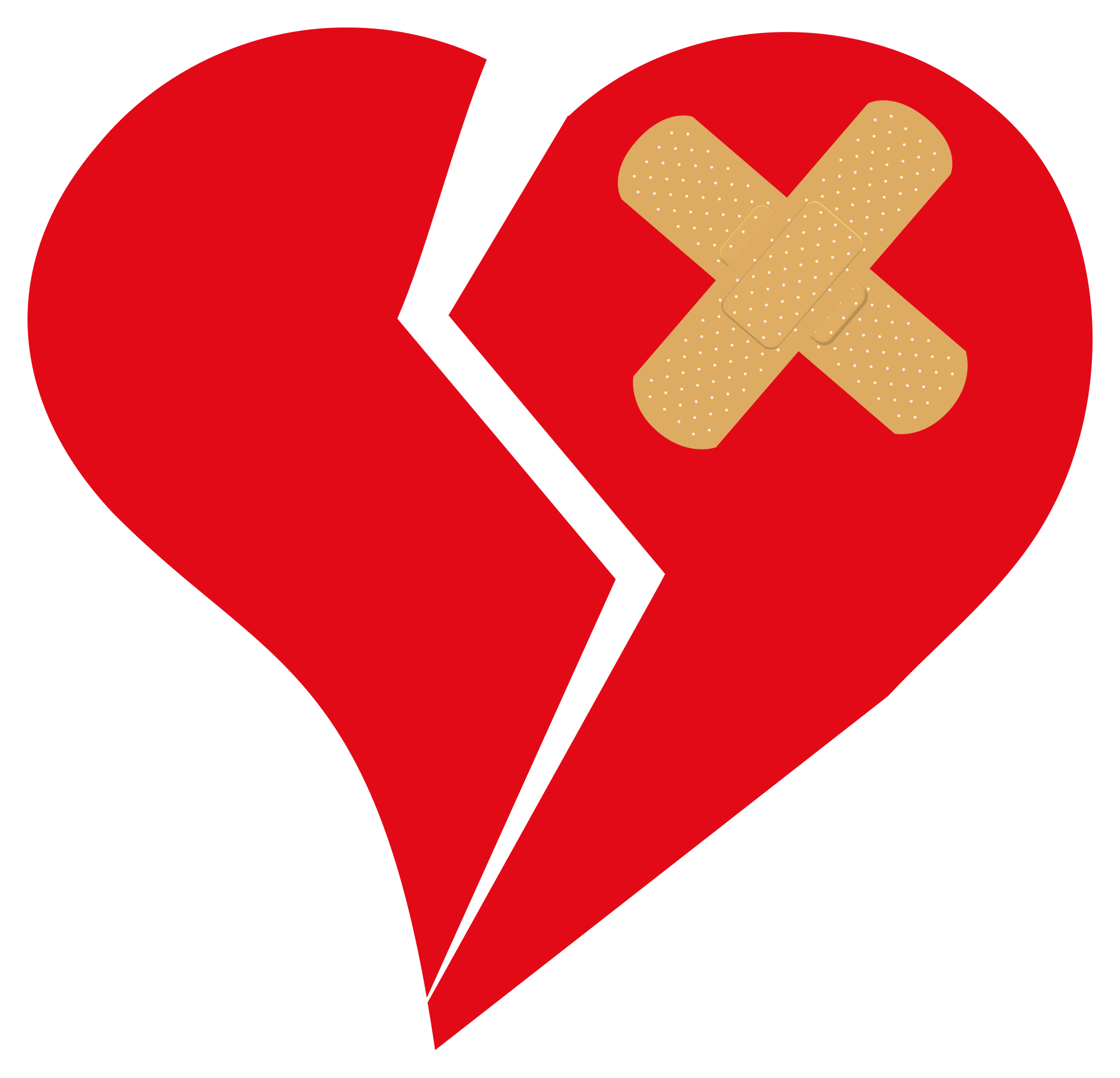 Clipart Love Heart Broken.