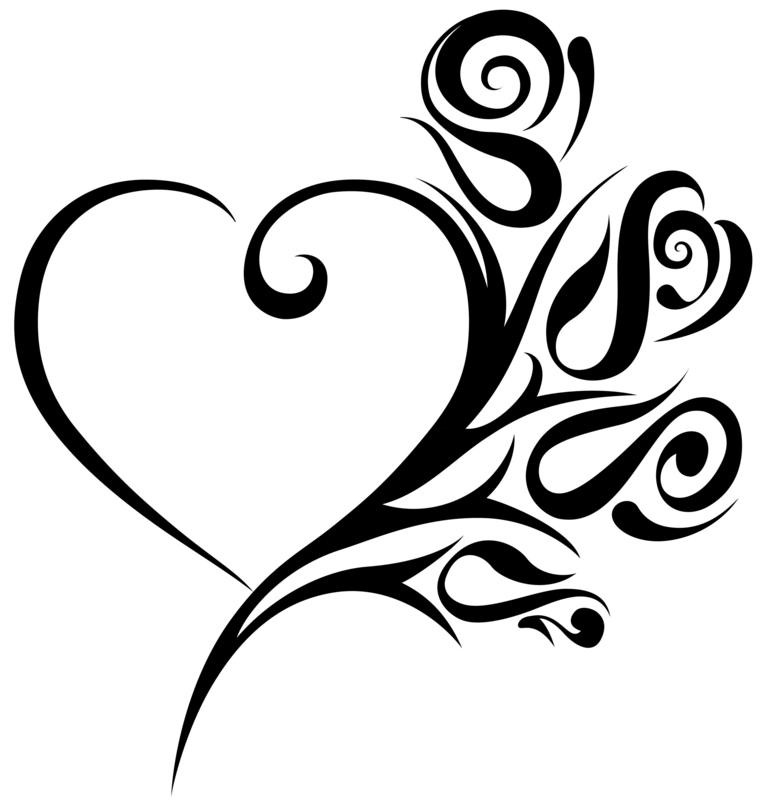 Wedding hearts clip art.
