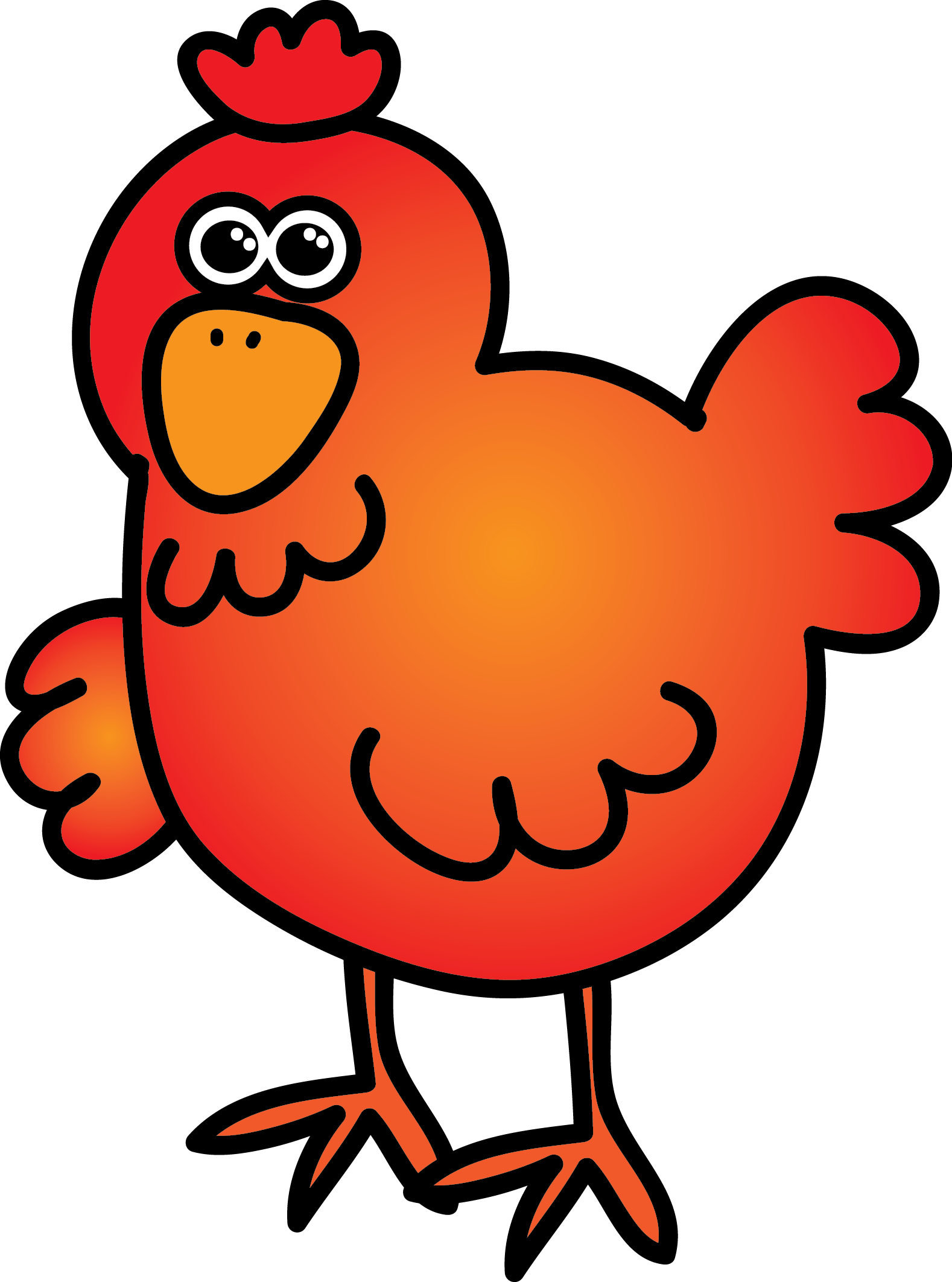 Red hen clipart.
