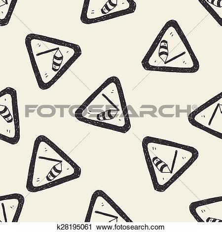 Clipart of high wind doodle k28195061.