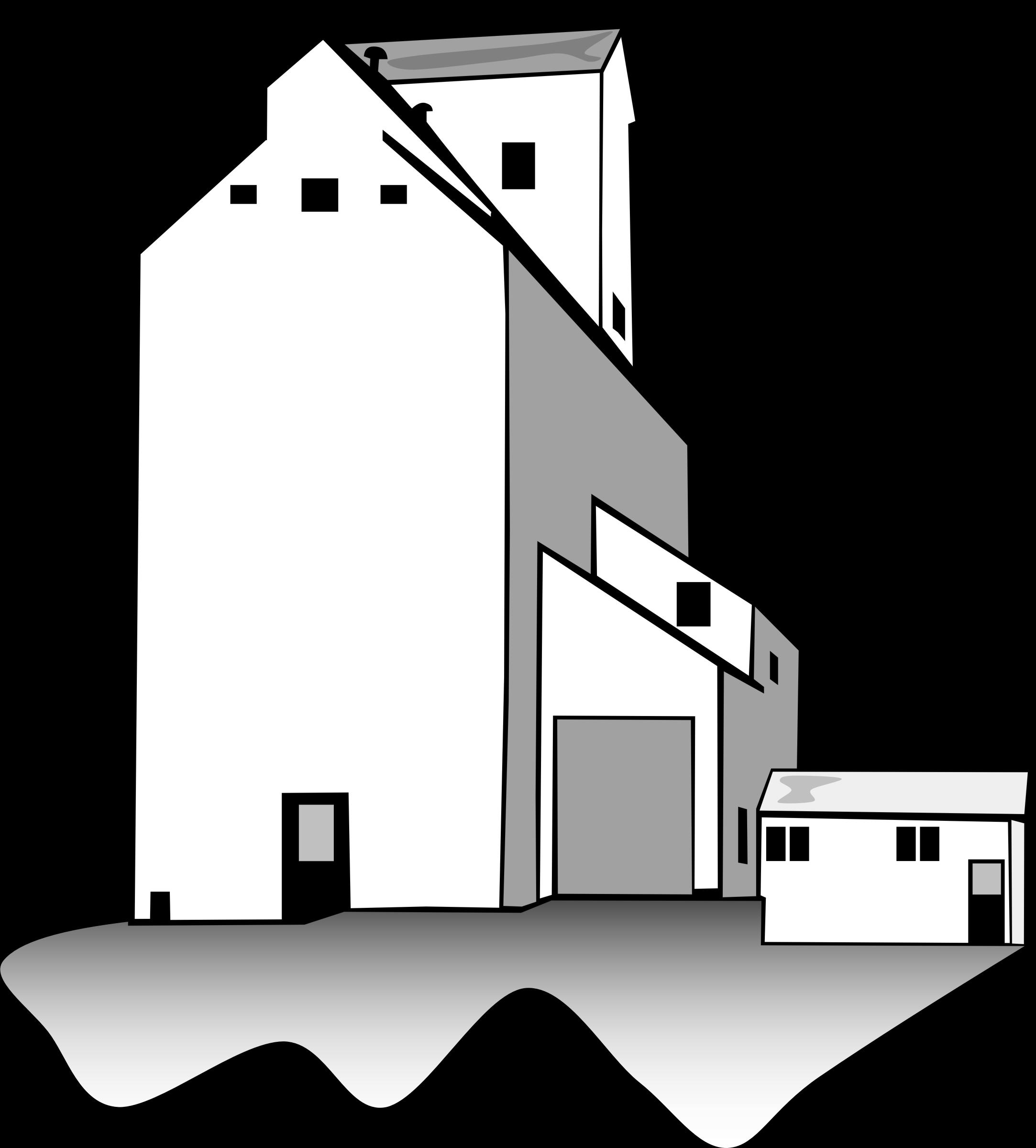 Grain elevator clipart.