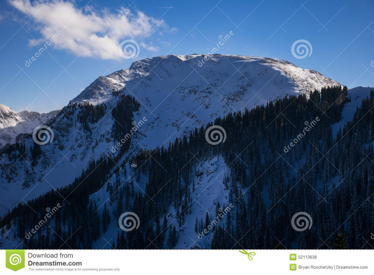 Highest Ski Lift America Kachina Peak Taos Ski Valley Stock Photo.