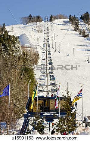 Stock Photo of Ski lift, Wentworth Ski Resort, Wentworth Valley.