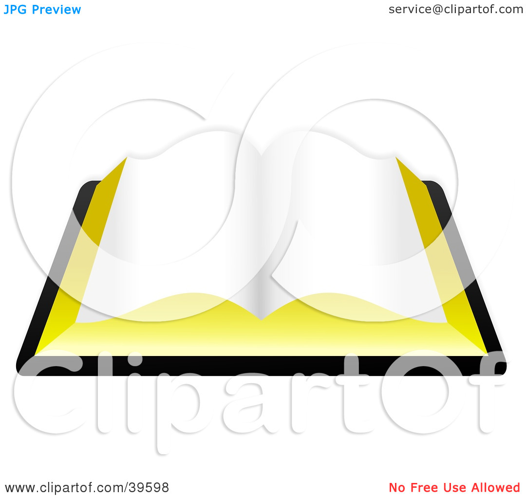 Clipart Illustration of a Blank Open Book, Or The Holy Bible by.