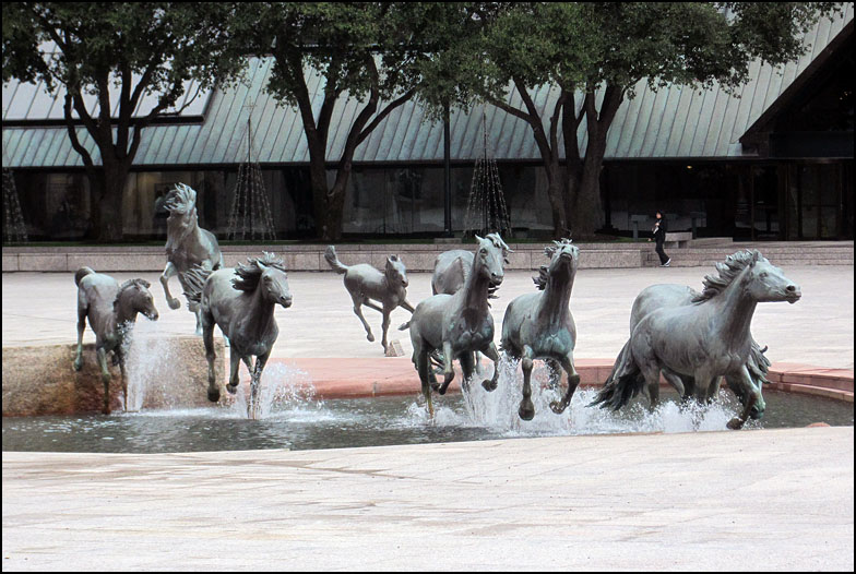 Mustangs at Las Colinas is a bronze sculpture by Robert Glen, that.