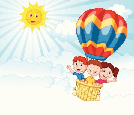 Hot Air Balloon Ride Clip Art, Vector Images & Illustrations.