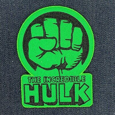 THE INCREDIBLE HULK FIST LOGO IRON ON EMBROIDERED PATCH FREE SHIPPING.