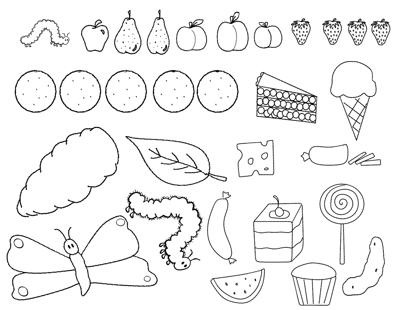 Hungry Caterpillar Drawing at GetDrawings.com.