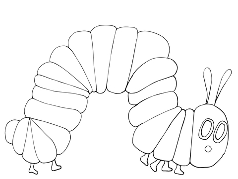 Very Hungry Caterpillar coloring page.