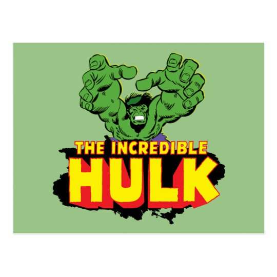 The Incredible Hulk Logo Postcard.