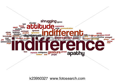 Stock Illustration of Indifference word cloud k23950327.