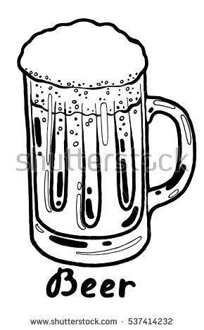 Mug Beer Retro Clipart Illustration Stock Vector 117434812.