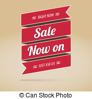 Vector Clip Art of Sale now on.
