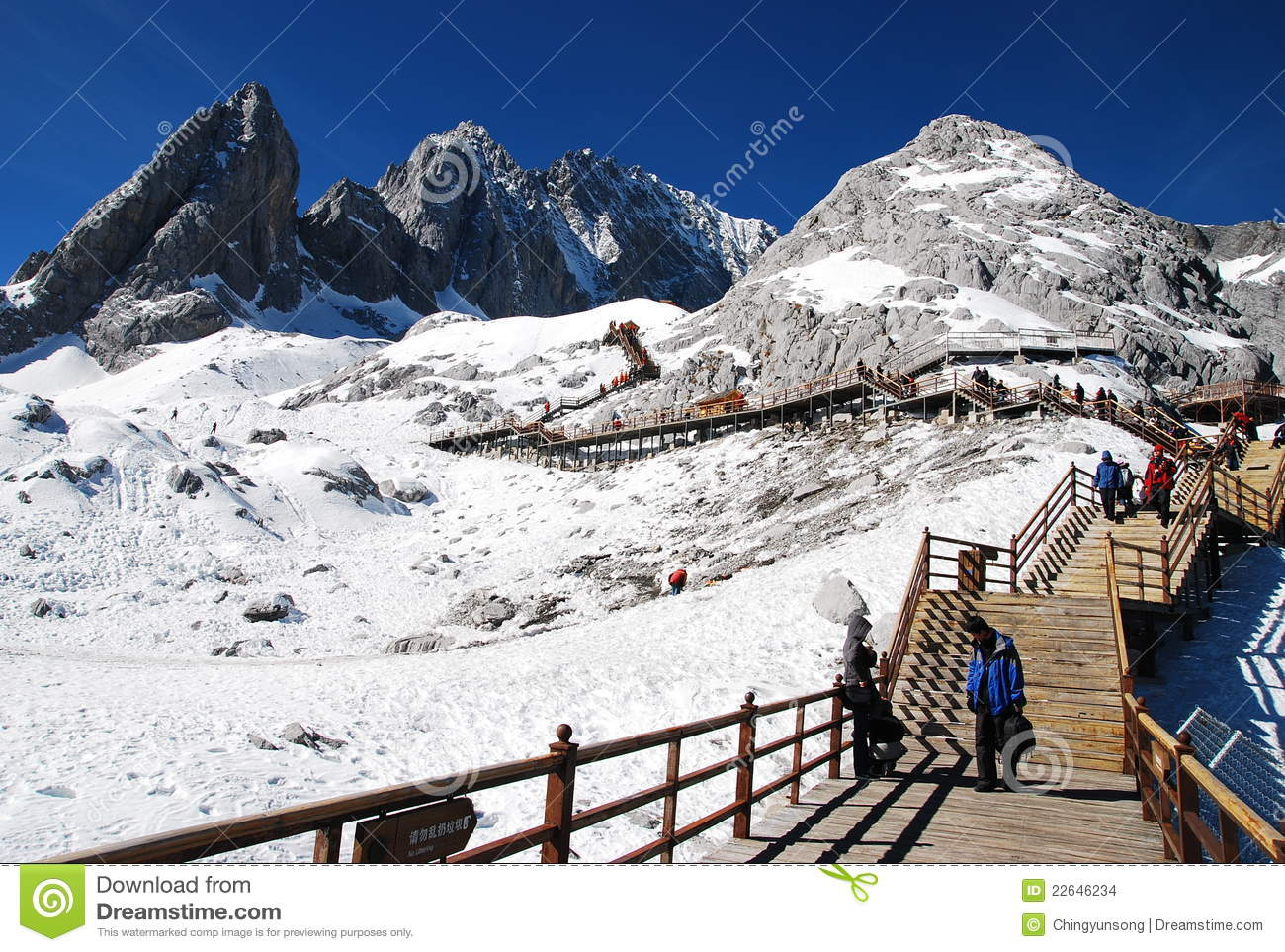 Jade Dragon Snow Mountain, Lijiang China Stock Images.