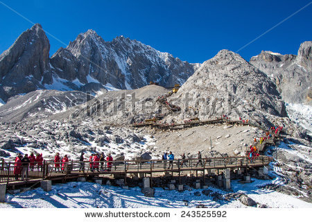Jade Dragon Snow Mountain Stock Photos, Royalty.