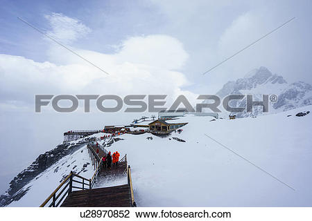 Stock Photo of Jade Dragon Snow Mountain Lijiang City Yunnan.
