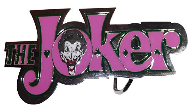Amazon.com: DC\'s The Joker Logo and Face Enamel Metal Belt.