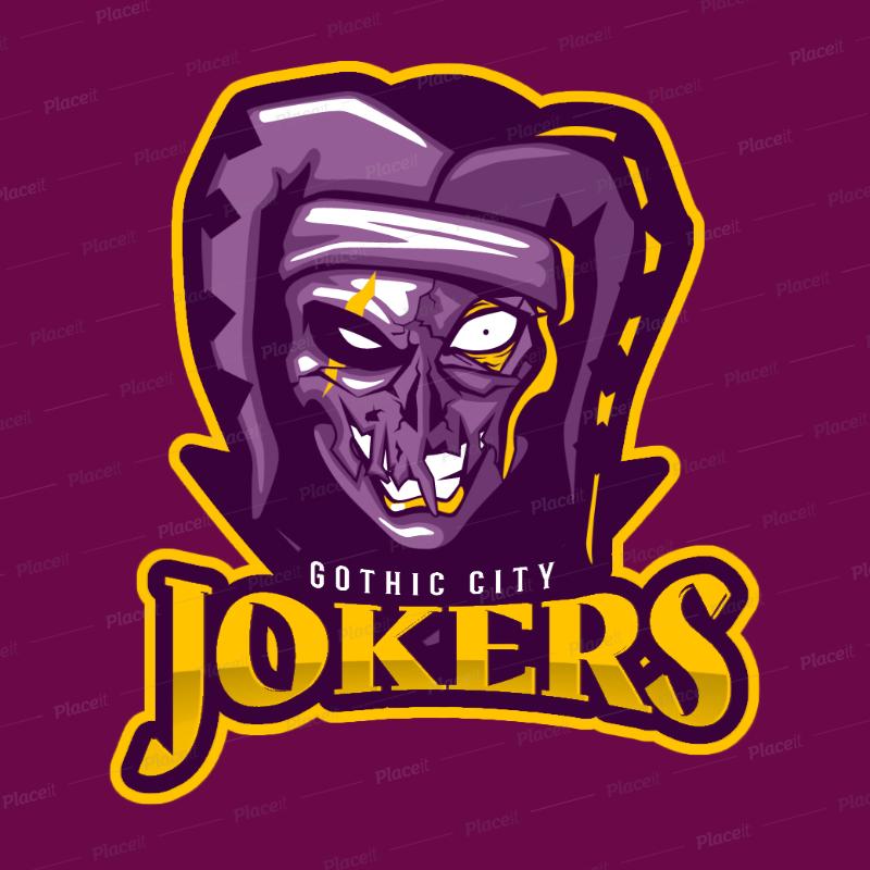 eSports Logo Generator Featuring an Evil Joker Illustration 1750t 2361.