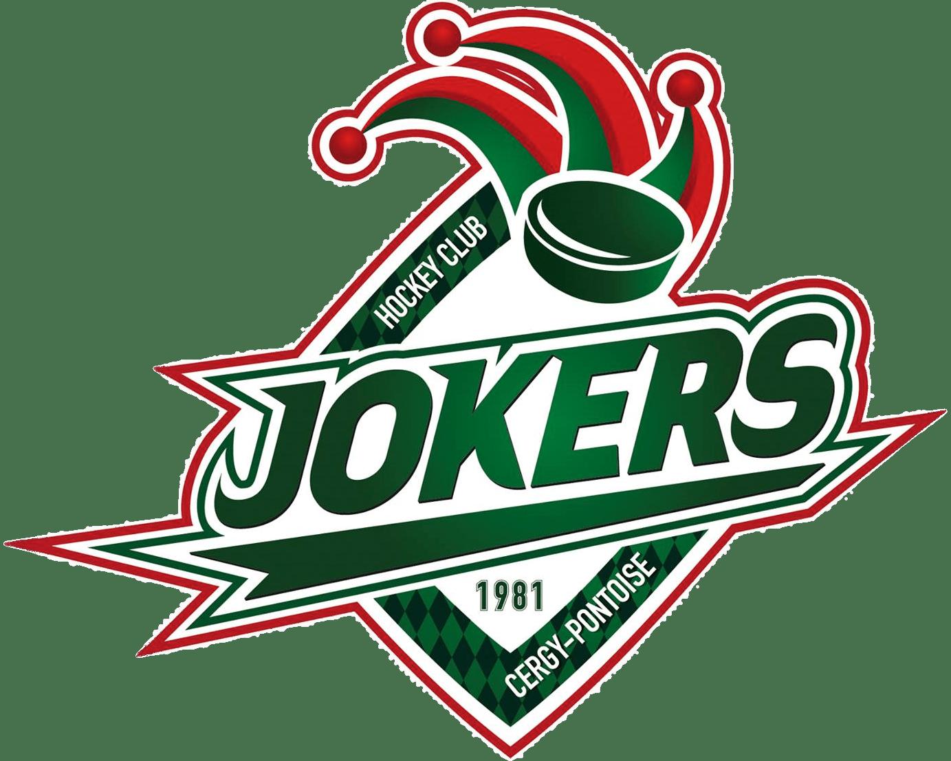 Jokers Cergy Pontoise Logo transparent PNG.