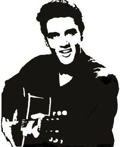 Details about elvis the king of rock n roll vinyl wall art van car bonnet  side sticker graphic.