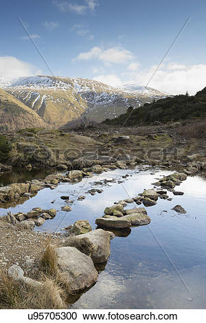 Stock Photography of England, Cumbria, Lake District. A view.