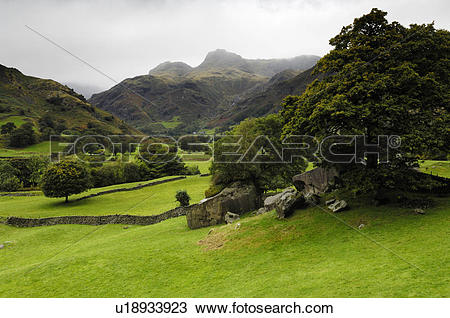Stock Photo of England, Cumbria, Chapel Stile, A view of Great.