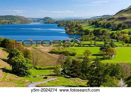 Stock Photo of Ullswater from Martindale Road in the Lake District.