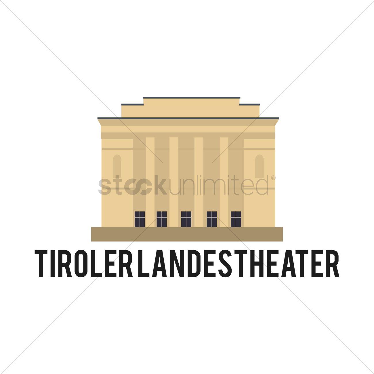 Tiroler landes theater Vector Image.