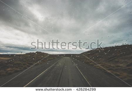 Dark Landscape Rain Stock Photo 106330676.