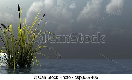 Stock Illustration of silence before storm.